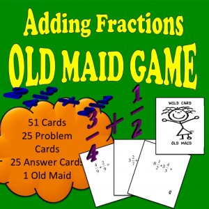 Adding Fractions Old Maid Game