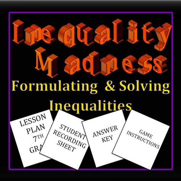 Inequality Madness Lesson Plan-7