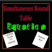 Equations Simultaneous Round Table-7